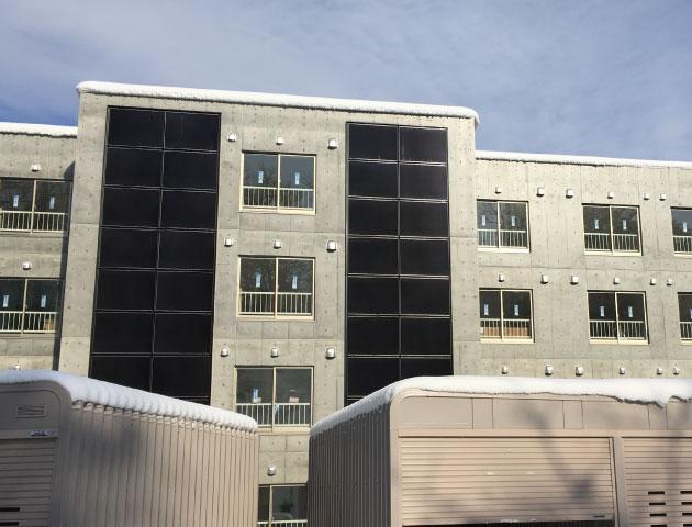 集合住宅壁面設置