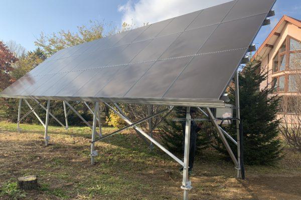 敷地を有効利用!地上設置太陽光発電!
