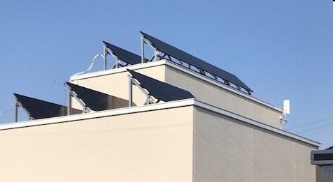もちろん陸屋根にも設置できます!(帯広市)