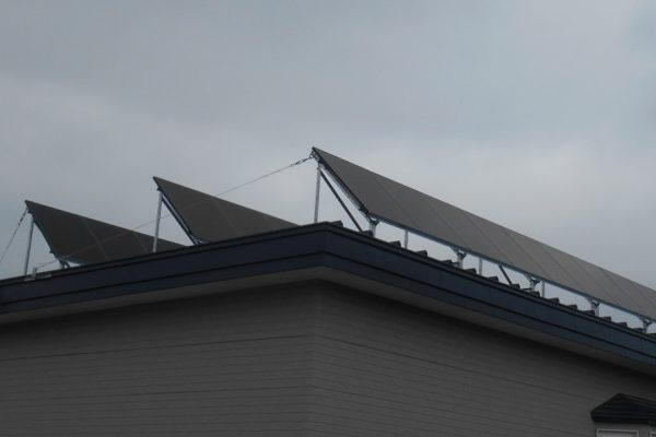 住宅屋根への設置(鹿追町)
